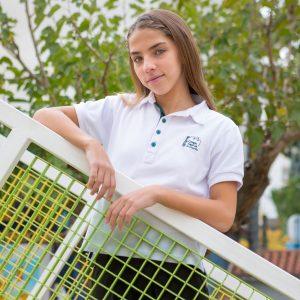 Polo Blanco Chica - Centro Educativo Ángel de la Guarda